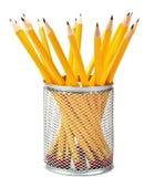 查出的铅笔技术支持 免版税库存照片