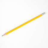 查出的铅笔白色 库存图片