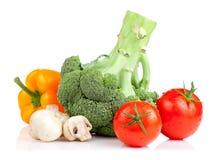查出的集合蔬菜 免版税图库摄影