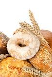 查出的面包和麦子 库存照片