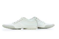 查出的鞋子短小白色 库存照片