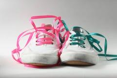 查出的鞋类体操穿上鞋子体育运动 图库摄影