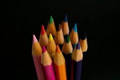 查出的颜色铅笔 免版税库存照片