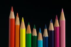 查出的颜色铅笔 免版税库存图片