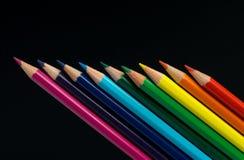 查出的颜色铅笔 库存照片