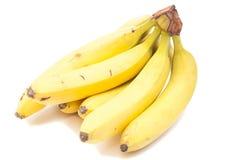查出的香蕉束 免版税库存图片