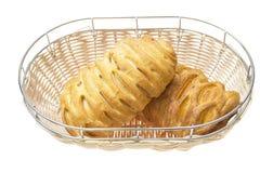 查出的鲜美新月形面包 免版税库存图片