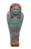 查出的鹰的小的埃及棺材。 免版税图库摄影