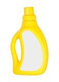查出的黄色塑料瓶 免版税库存照片