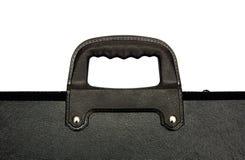 查出的黑色公文包 免版税库存图片