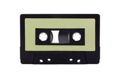 查出的黑色卡式磁带协定绿色 图库摄影