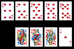 查出的黑色看板卡演奏集 免版税库存图片