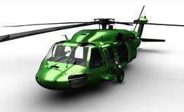 查出的黑色鹰直升机 库存例证