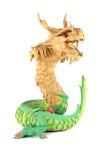 查出的龙雕塑 免版税库存照片