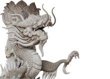 查出的龙雕象 免版税库存照片