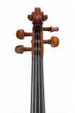 查出的滚动小提琴白色 免版税图库摄影