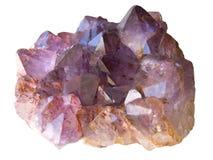 查出的紫晶 库存照片