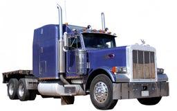 查出的紫色卡车 库存照片