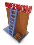 查出的黑色概念自由 导致一个更好的地方的梯子 免版税库存图片