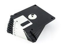 查出的黑色磁盘 库存照片