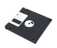 查出的黑色磁盘 免版税库存图片