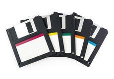查出的黑色磁盘 图库摄影