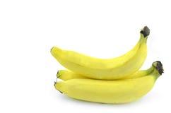 查出的黄色香蕉 免版税库存照片
