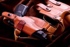 查出的airsoft枪 免版税库存照片