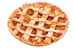 查出的Apple和桂香馅饼 免版税库存照片