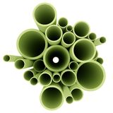 查出的backgrou绿色用管道输送白色 免版税库存图片