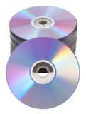 查出的CD的DVD塔 库存图片