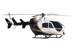 查出的helecopter 免版税库存图片