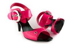 查出的ladys鞋子 库存照片
