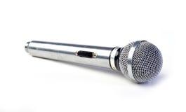 查出的mic银色白色 免版税图库摄影