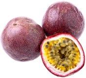 查出的passionfruit 免版税库存照片