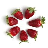 查出的strawberrys 免版税库存照片