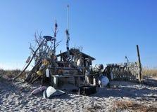 查塔姆海滩棚子 免版税图库摄影
