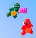 查家上午海滩- 3月9日:第15个泰国国际风筝节日 库存图片