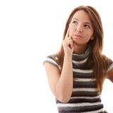 查寻妇女年轻人 免版税库存图片
