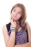 查寻少年的女孩 免版税库存照片