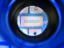 查寻按钮数字式连接技术 库存照片