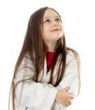 查寻的女孩 免版税图库摄影