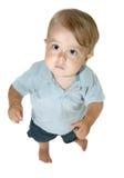 查寻的男婴 库存照片