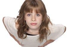 查寻逗人喜爱的Liitle的女孩 免版税库存照片