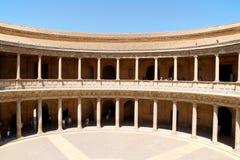 查尔斯宫殿v在阿尔罕布拉宫,格拉纳达 库存照片