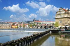 查尔斯桥梁,布拉格城堡(联合国科教文组织),捷克共和国 库存图片