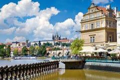 查尔斯桥梁,布拉格城堡(联合国科教文组织),捷克共和国 库存照片
