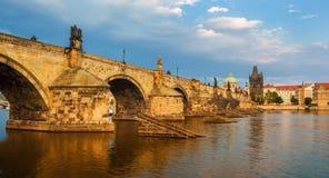 查尔斯桥梁,布拉格,捷克 库存图片