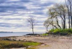 查尔斯海岛Milford康涅狄格 免版税库存照片