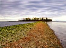 查尔斯海岛Milford康涅狄格 库存图片